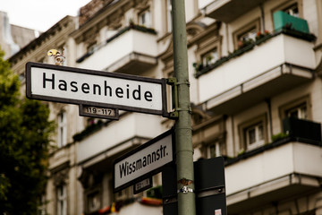 Hasenheide Berlin Street Sign