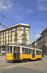Cordusio square in Milan. Lombardy. Italy