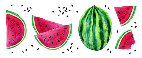 Watercolor Watermelon Set