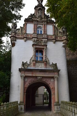 Entrance to Castle Wiesenburg, Brandenburg, Germany