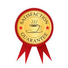 Coffee satisfaction guarantee icon logo