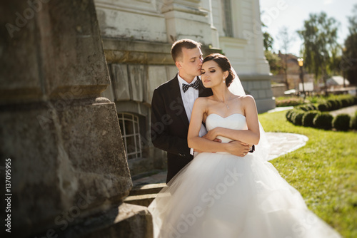 Wedding wedding day beautiful bride and elegant groom for Dress after wedding ceremony