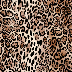 Natural Leo print - animal seamless background