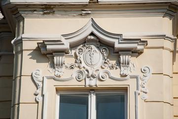 Apothenken-Fenster mit Verzierungen