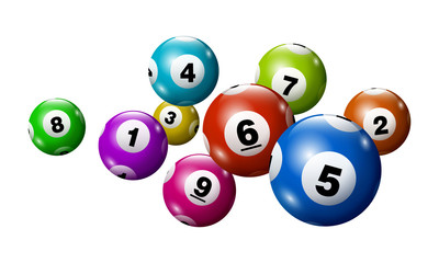 Vector Bingo / Lottery Number Balls Set - Colorful - 1 to 9