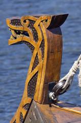Drakkar-fighting ship of Vikings used for sea attacks (fragment).
