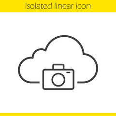 Photo hosting linear icon