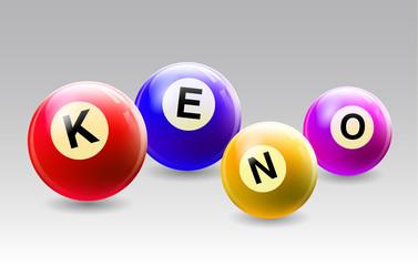 Vector KENO Balls Set - Colorful