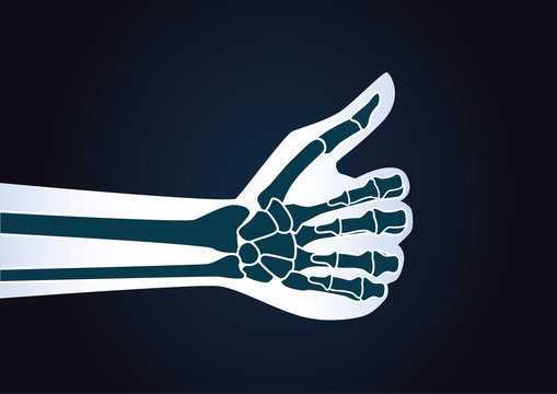 Hand make thumbs up gesture. Illustration about health care concept.