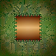 Motherboard chip. Computer hardware technology