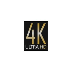 4K Ultra High Definition Label