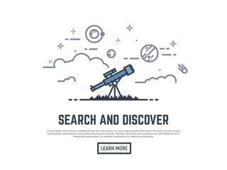 Telescope searching banner