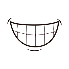 Mouth laughing cartoon icon vector illustration graphic design