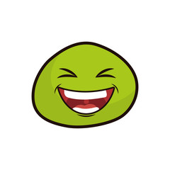 Funny emoticon cartoon icon vector illustration graphic design