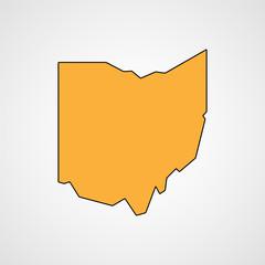 Map of Ohio. Vector
