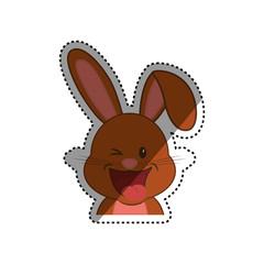 Cute rabbit cartoon icon vector illustration graphic design