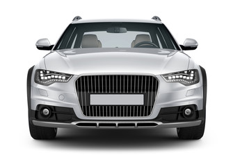Silver Car - front view