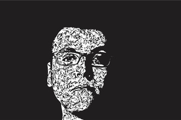 Male portrait glasses