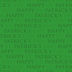 Happy Patricks Day - seamless green wrapping paper