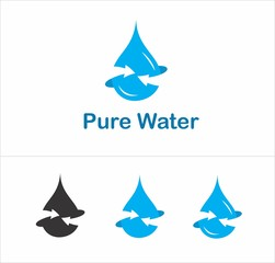 Pure water drop logotype