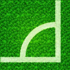 Soccer field corner, football field, vector