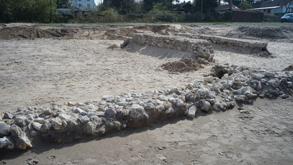Roman excavation Mainz Gonsenheim, Rheinland-Palatinate, Germany - 01.04.2014