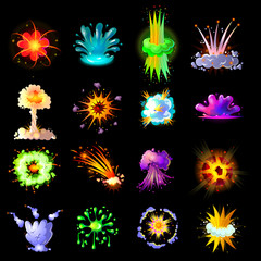 Cartoon Colorful Explosions Collection