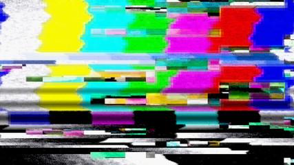 Data Glitch TV Color Bars Malfunction 11025
