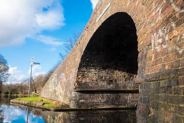 Brick Bridge seen at Birmingham Canal