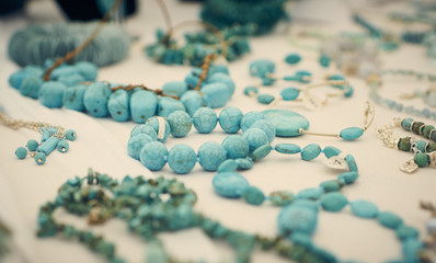 Turquoise Bead and Neckless detail