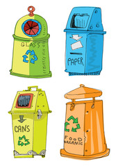 separated garbage collection - cartoon
