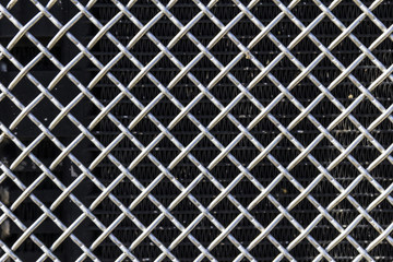 Grille from a Semi Tractor Trailer or Big Rig Truck for background picture II