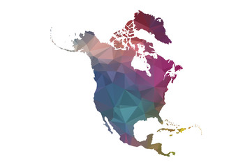 low poly north america