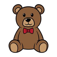 Cartoon Teddy Bear Vector Illustration