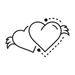 Two Icon Hearts wings