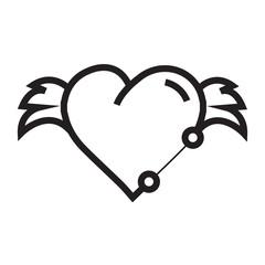 Hearts wings pen tool design