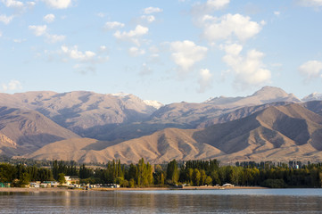 Lake Issyk-Kul in Cholpon-Ata, Kyrgyzstan