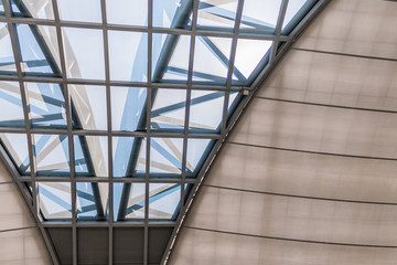 Modern glass building dome