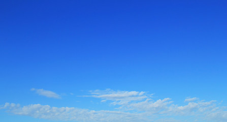 Clear blue sky for background