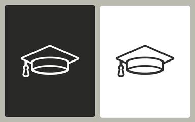 Graduation - vector icon.