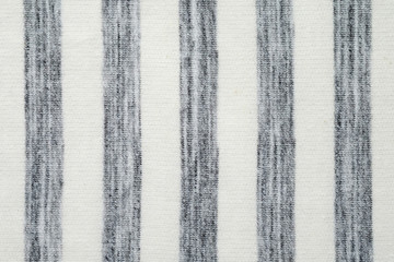 Gray and white striped pattern cotton polyester fabric texture background