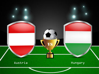 Illustration of different countries flag participating in soccer tournament