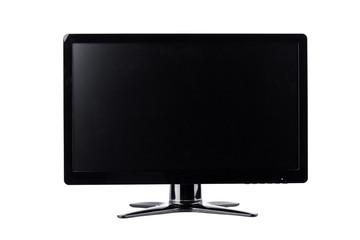 LED monitor computer display on white background  hardware  desktop technology isolated