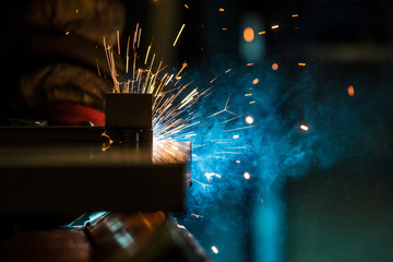 Welding close up