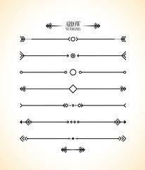 abstract arrow line set