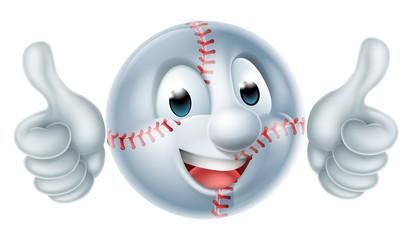 Softball Ball Man Cartoon Character