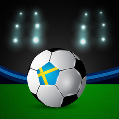 Illustration of Sweden flag participating in soccer tournament