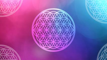 Blume des Lebens - kosmisches Licht