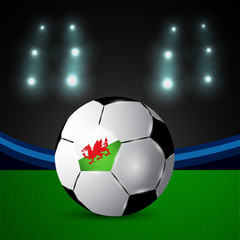 Illustration of Wales flag participating in soccer tournament