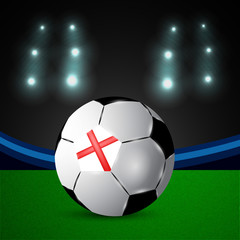 Illustration of England flag participating in soccer tournament